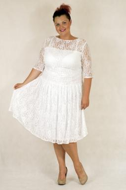 Sukienka XXL Justine biała