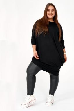 czarna sukienka dresowa plus size