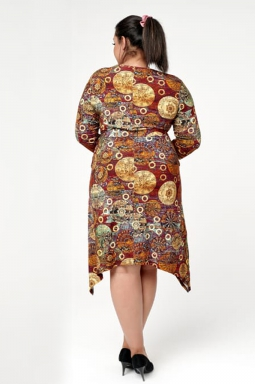 sukienka xxl wydłużone boki