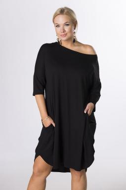 letnia sukienka xxl czarny