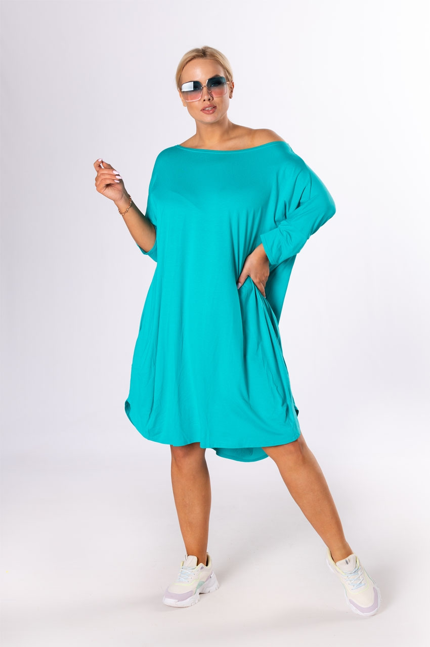turkusowa letnia sukienka xxl