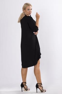 sukienka xxl z opadającym ramieniem