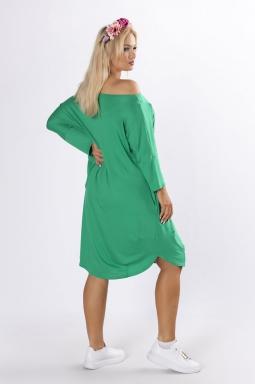 dzianinowa sukienka plus size zielony
