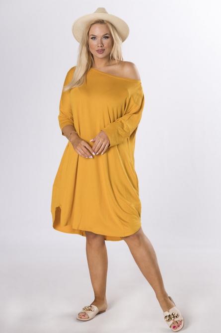 sukienka plus size letnia miodowa