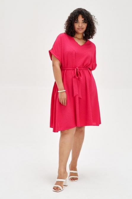 czerwona sukienka kopertowa xxl