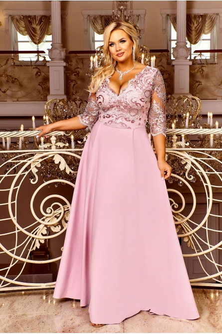 sukienka wieczorowa balowa plus size