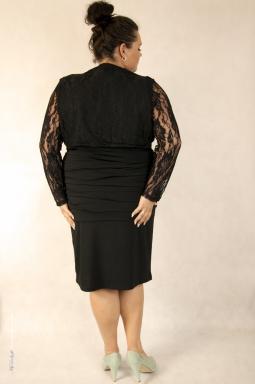 Sukienka XXL Alessandra czarna i bolerko Victoria czarny