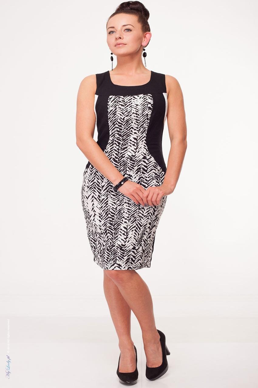 Sukienka XXL Zebra