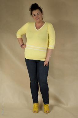 Bluzka XXL Amelia żółta