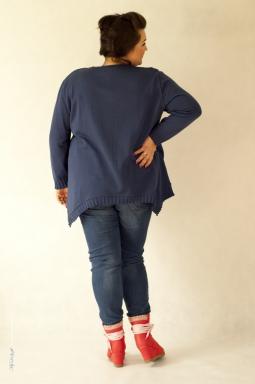 Sweter plus size 005 granatowy