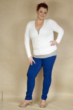 Sweter XXL Kiana biały
