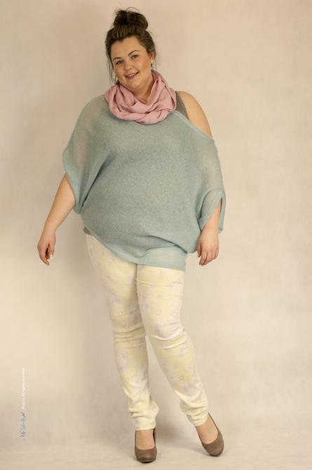 Sweter XXL Pesto błękitny