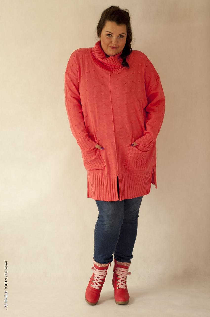 Tunika plus size 006 pomarańczowy
