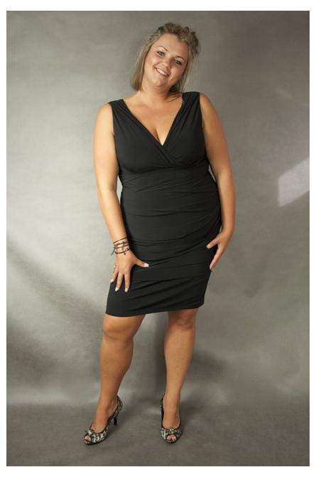 Sukienka XXL Alessandra czarna