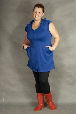 Tunika plus size Hope chabrowa