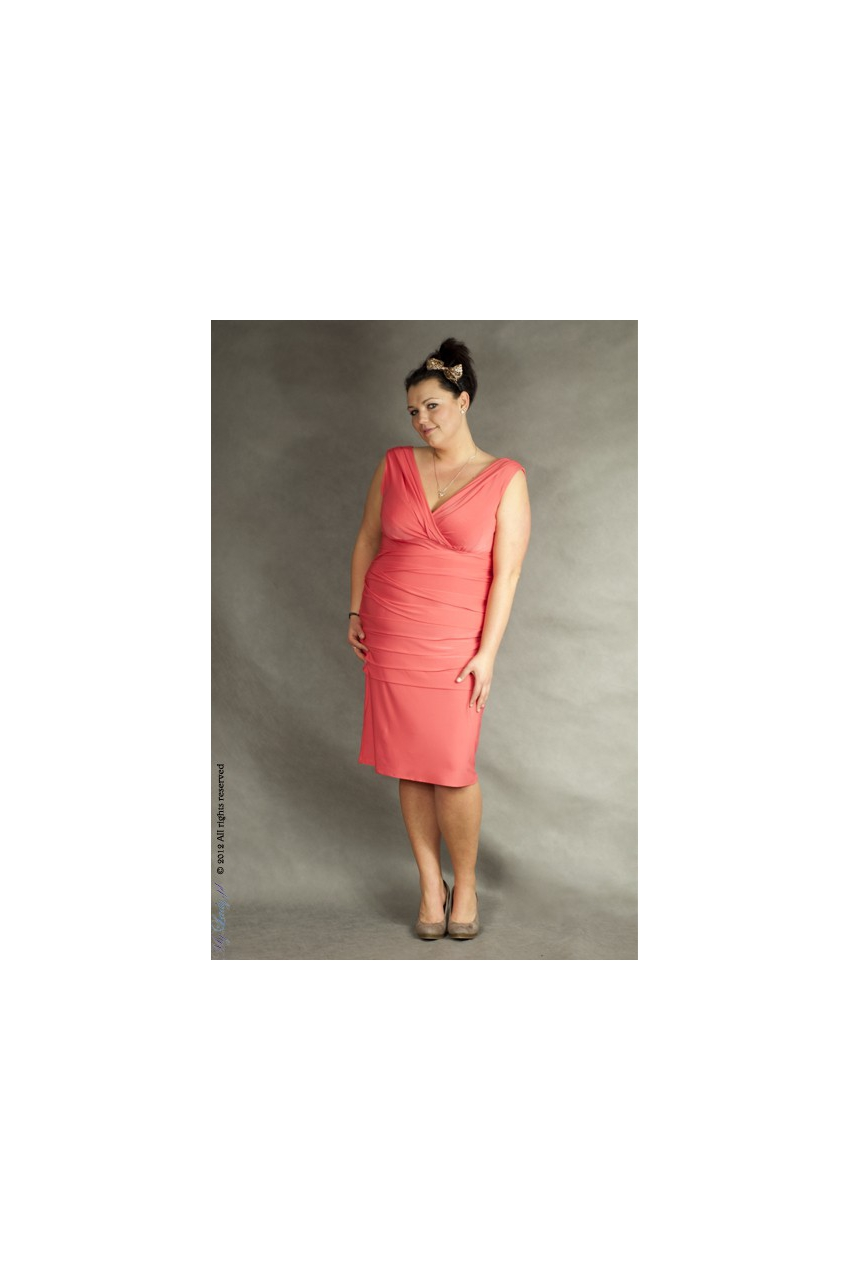 Sukienka XXL Alessandra koralowa
