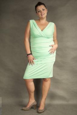Sukienka XXL Alessandra miętowa