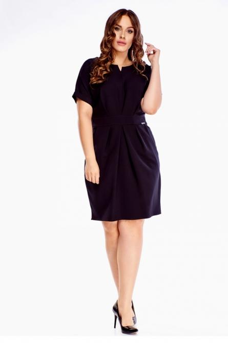 sukienka plus size z drapowaniami