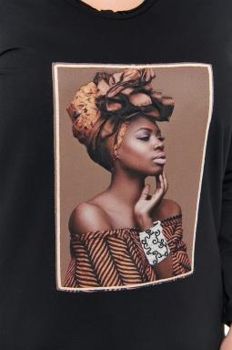 naomi bluza plus size czarny