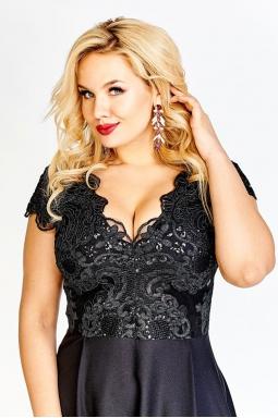 sukienka plus size wieczorowa czarny