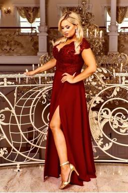 sukienka wieczorowa xxl burgund