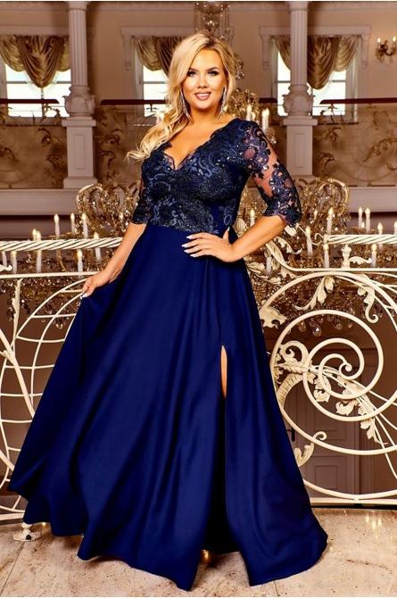 wieczorowa suknia xxl granatowy
