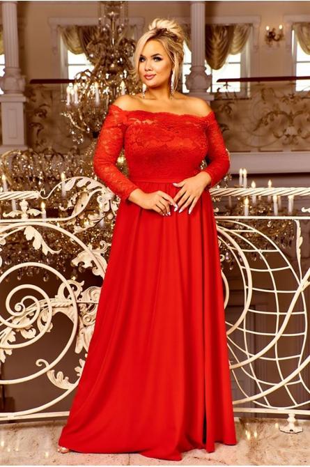 Samanta sukienka plus size z hiszpańskim dekoltem