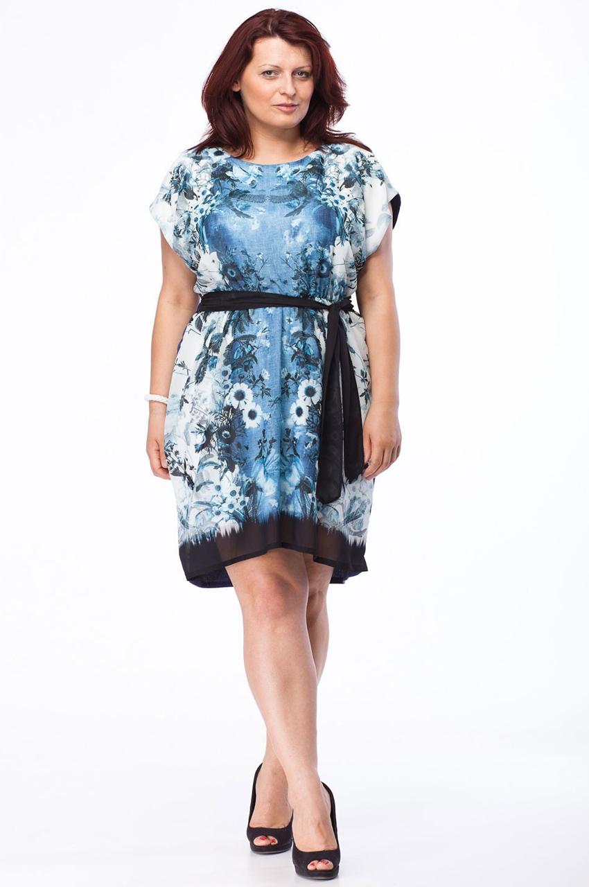 sukienka xxl w kwiaty